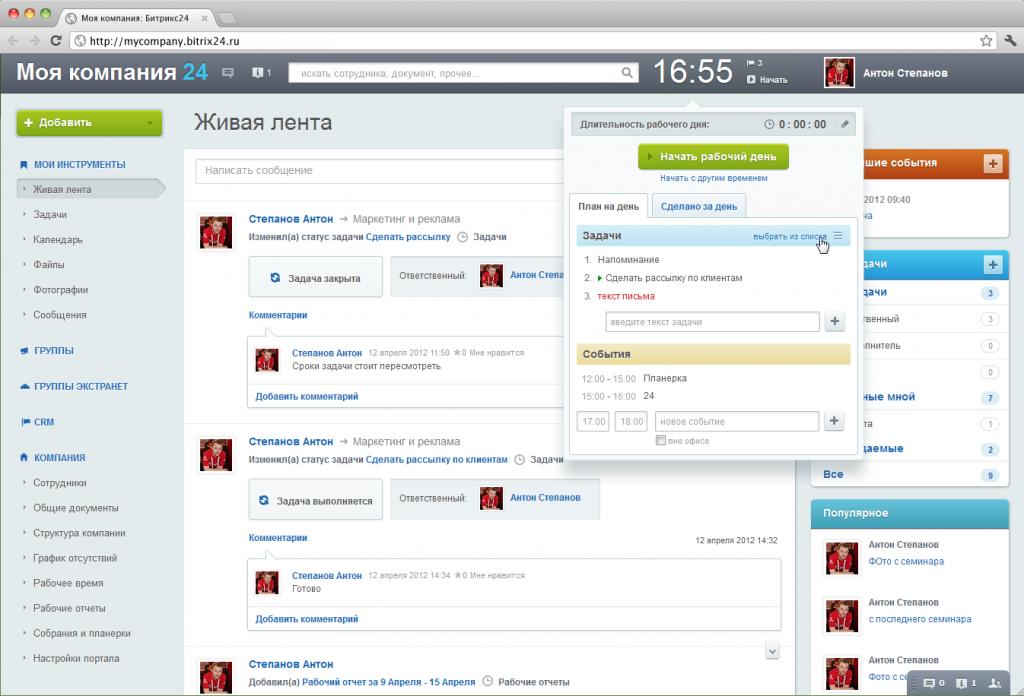 Сопровождение Битрикс24 через Skype